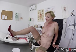 broad in the beam boob hairy secret agent grandma gets rough pov fingered and fucked by their way doctor