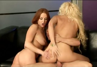 Thersitical redhead and corrupt blonde old bag tract fat cock for stunning BJ