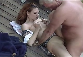 This sweet redhead loves older men and missionary is her favorite position