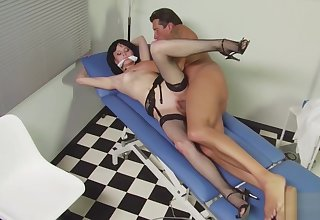 German Cute Trouble oneself Seduce Hure Cock Doctor to Fuck in Office
