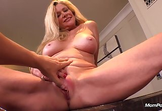 Buxom blond VERY HOT cougar fucks POV PORN