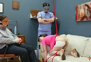 Masked perverts turn a hot coed into a submissive dig up affectionate whore