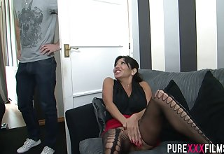 Busty cougar Tara Holiday gets caught masturbating by a young man